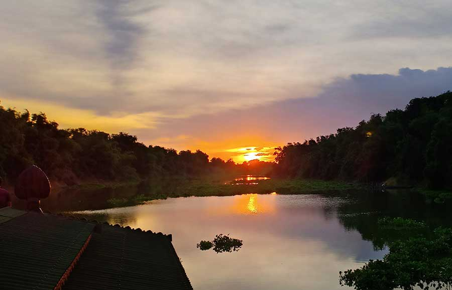 Sunset in Cambodia onboard Sovanna | Cambodian River Cruises